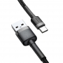 Kabel Baseus Cafule USB for Type-C 3A (CATKLF-BG1)