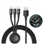 Kabel Baseus Star Ring Series 4-in-1 Wireless Charger Cable USB For+M+L+T+iW (1.2m) CA1T4-I0G