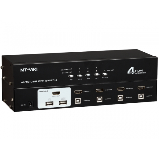 MT-2104HL 4 Port Auto Hdmi Usb Kvm Switch Box