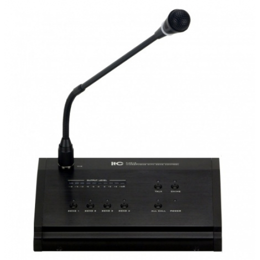 A-124 remote 4 zone paging MIC for T-4060MP/T-4120MP
