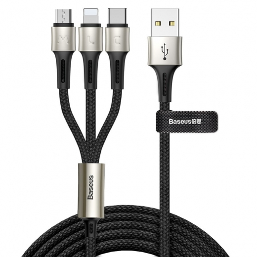Kabel USB - micro USB+Lightning+USB Type-C Baseus CAMLT-GH01 Caring Touch Selection (1.2m)