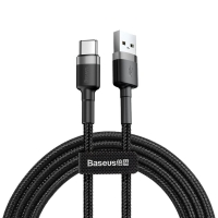 Кабель Baseus Cafule USB for Type-C 3A (CATKLF-BG1)