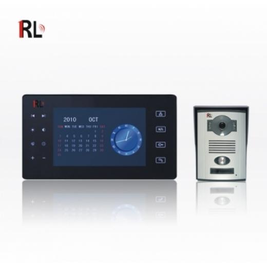 RL-0807AB 2.4 GHz Wireless Video Door Phone System, 7 inch TFT screen, SD card