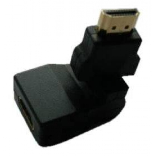 Адаптер HDMI-M to HDMI-F 360 Angle (Gold plated)