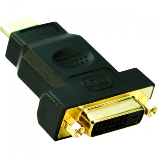 Adapter HDMI 19M to DVI 24+1F Gold plated