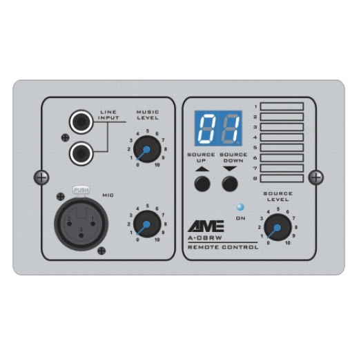 A-08RW Remote Control with Audio Input Module, ABS, white